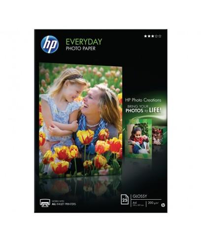 Pack de 25 hojas de papel fotográfico Gloss A4 200gr HP