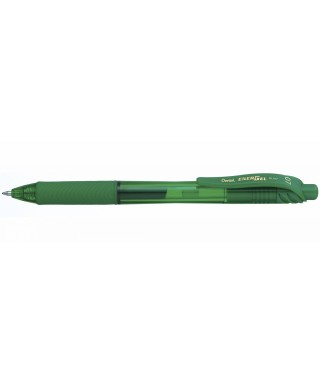 Bóligrafo verde de tinta gel retráctil