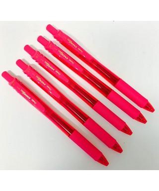 Bolígrafo retráctil tinta gel rosa BL107 PENTEL