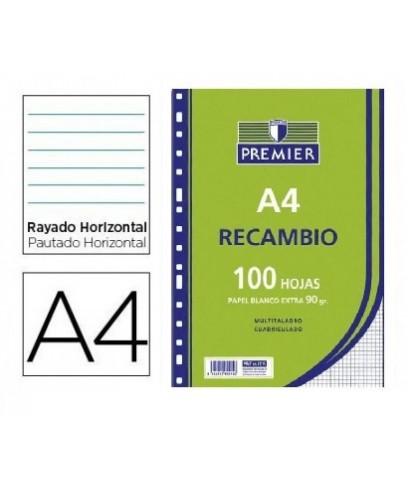 Recambio 100h A4 horizontal 90gr
