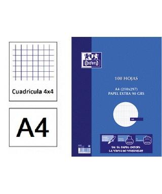 Recambio A4 cuadriculado 4 taladros- OXFORD - 100430215