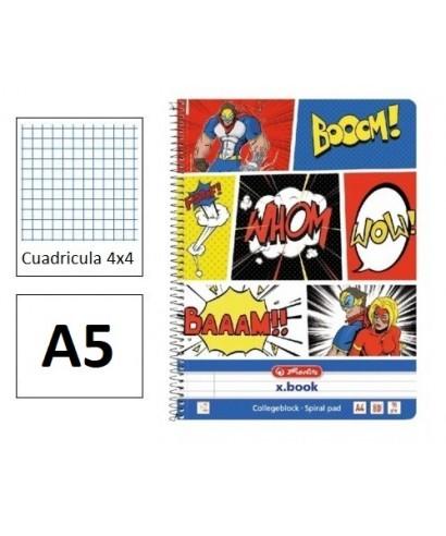 Cuaderno A5/100 hojas tapa dura,Comic, P
