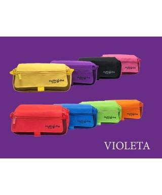 Estuche triple color violeta