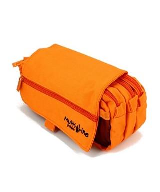 Estuche triple color naranja