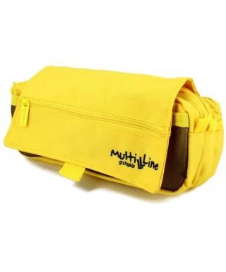estuche triple en color amarillo