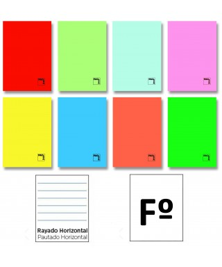 Libreta 50h Fº horizontal cartulina gofr