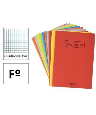 Libreta 50h Fº cuadriculada 4x4 Papyrus