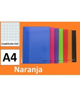 Cuaderno naranja multiline A-4 microperforado- GRAFOPLAS - 88525052