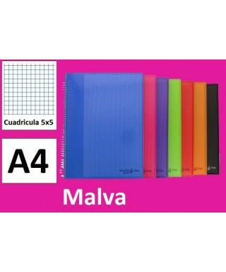Cuaderno malva multiline A4 microperforado- GRAFOPLAS - 88525054