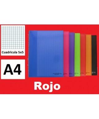 Cuaderno rojo multiline A-4 microperforado- GRAFOPLAS - 88525051