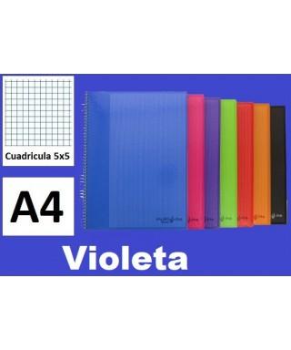 Cuaderno violeta multiline A-4 microperforado- GRAFOPLAS - 88525035