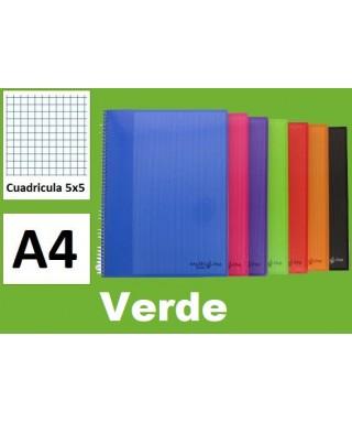 Cuaderno verde multiline A-4 microperforado- GRAFOPLAS - 88525020