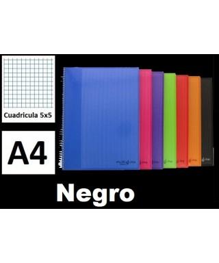 Cuaderno negro multiline A4 microperforado- 88525010