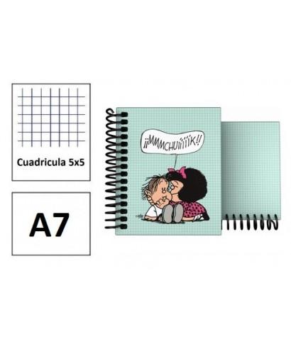 Cuaderno A7 forrado Mafalda Muak
