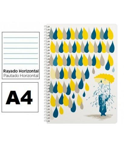 Cuaderno A4 3 fotas Rayado