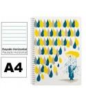 Cuaderno A4 3 gotas Rayado