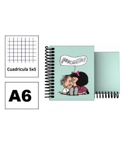 Cuaderno A6 forrado Mafalda Muak
