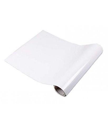 rollo papel adhesivo blanco