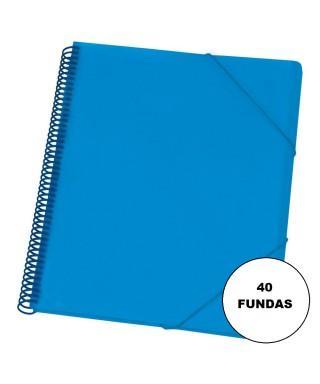 Carpeta maxiplas fundas 40 fundas azul. DEQUA