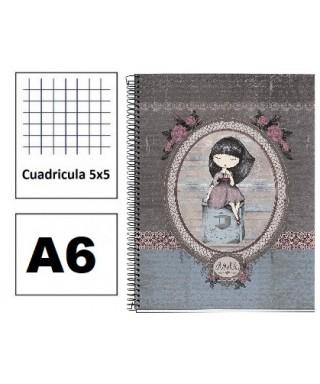 Cuaderno Aneke A6 120h 5x5 MIQUELRIUS