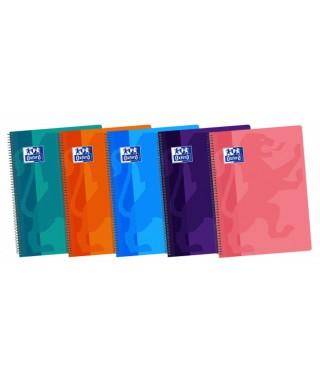 Cuaderno tapas de plástico 4X4 Fº OXFORD