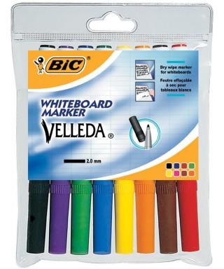 Bolsa de 8 Bic Velleda colores surtidos