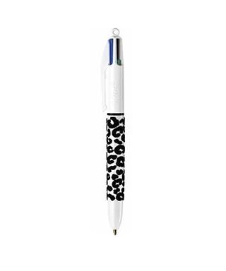 Bolígrafo Bic 4 colores Leopardo