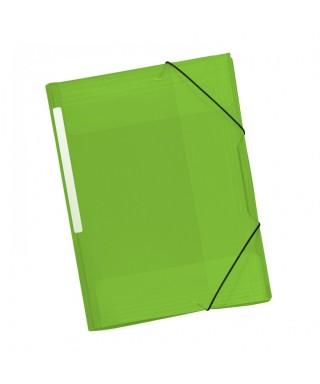 Carpeta gomas pp verde. GRAFOPLAS