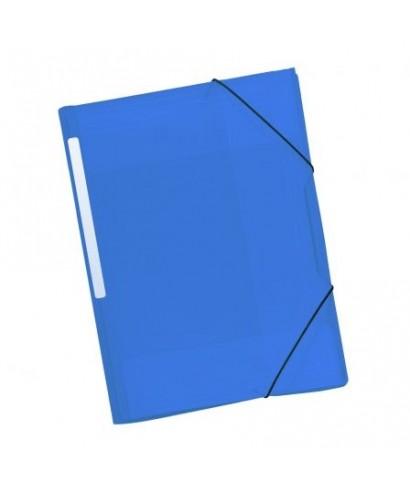 Carpeta gomas PP azul. GRAFOPLAS
