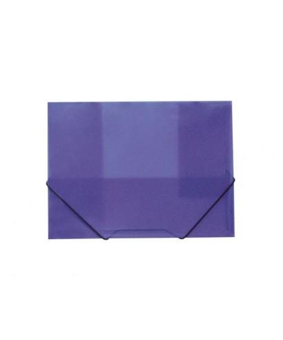 Carpeta gomas PP violeta. GRAFOPLAS