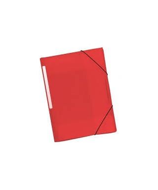 Carpeta gomas PP rojo. GRAFOPLAS