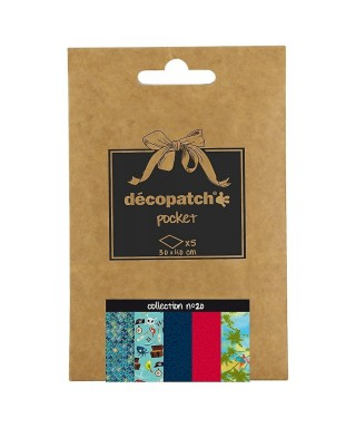 Pack 5 papeles Decopatch 20