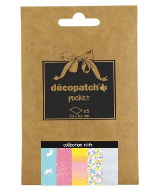 Pack 5 papeles Decopatch 19
