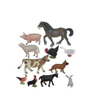 Bote 11 figuras animales granja Miniland