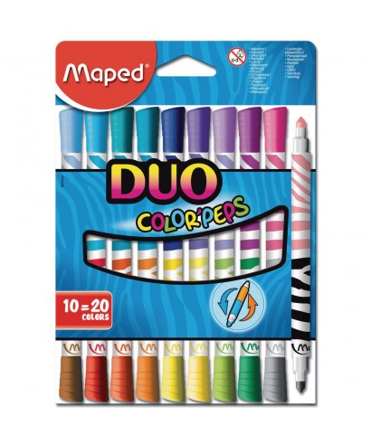 C/10 rotuladores duo color'peps