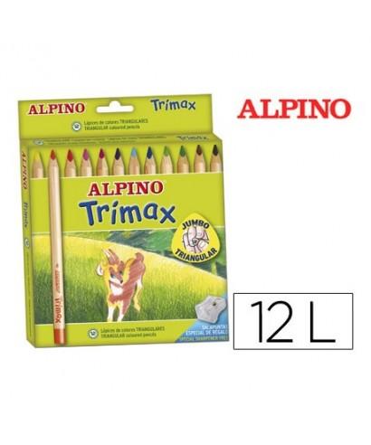 C/12 Lápices Alpino trimax surtido