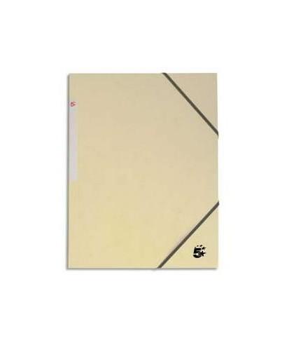 Carpeta cartón A-4 con solapas beis