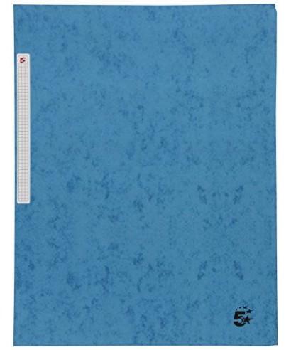Carpeta cartón A-4 con solapas azul