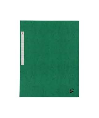 Carpeta cartón A-4 con solapas verde