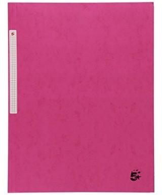 Carpeta cartón A-4 con solapas rosa