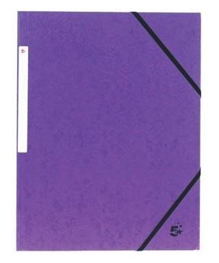 Carpeta cartón A-4 con solapas violeta