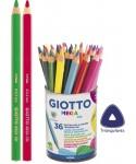 Bote 36 lápices de colores Giotto mega tri