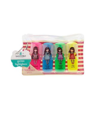 Set 4 mini marcadores fluor Gorjuss
