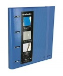 Carpebook 4 anillas 35mm azul GRAFOPLAS