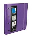 Carpebook 4 anillas 35mm violeta GRAFOPLAS