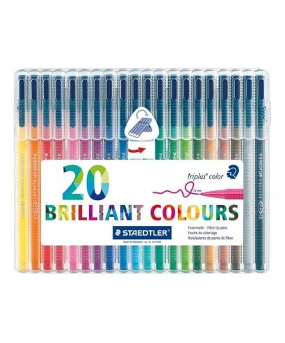 C/20 rotuladores triplus colores surtido