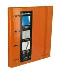 Carpebook 4 anillas 35mm naranja GRAFOPLAS