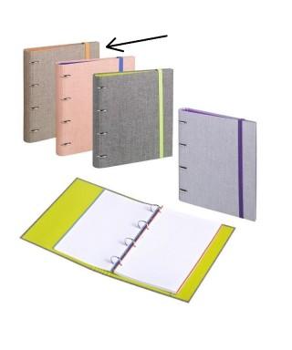 Carpebook A4 venture tela marrón