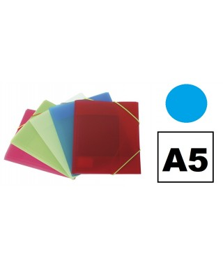 Carpeta pp A5 3 solapas azul