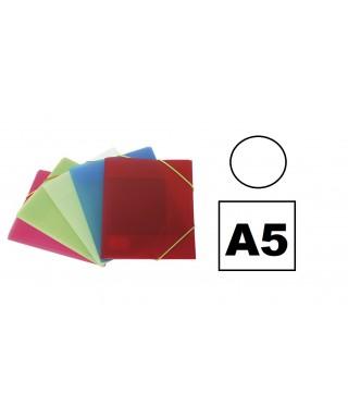 Carpeta pp A5 3 solapas transparente